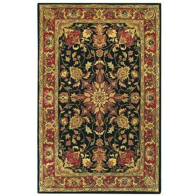Chamberlain Black 3 ft. 6 in. x 5 ft. 6 in. Area Rug