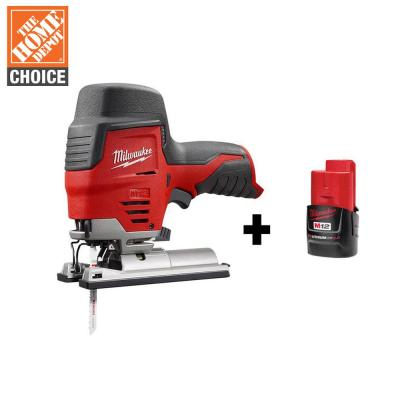 M12 12-Volt Lithium-Ion Cordless Jig Saw with M12 2.0Ah Battery