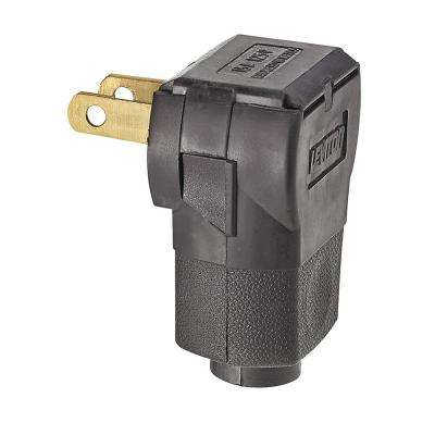 15 Amp 125-Volt Non-Polarized Angle Plug, Brown