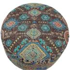 Decor Therapy Ambrosia 16 in. Multi Color Round Stool