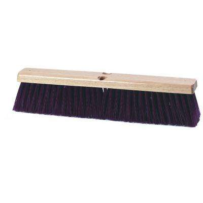 24 in. Maroon Crimped Polypropylene Garage Brush with Brace (12-Case)