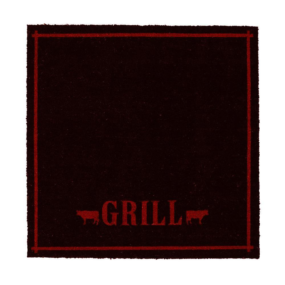 Grill Door Mat 46 in. x 46 in., Multi