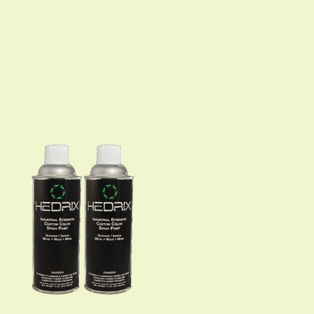 Hedrix 11 oz. Match of 420A-1 Green Shimmer Low Lustre Custom Spray Paint (2-Pack)