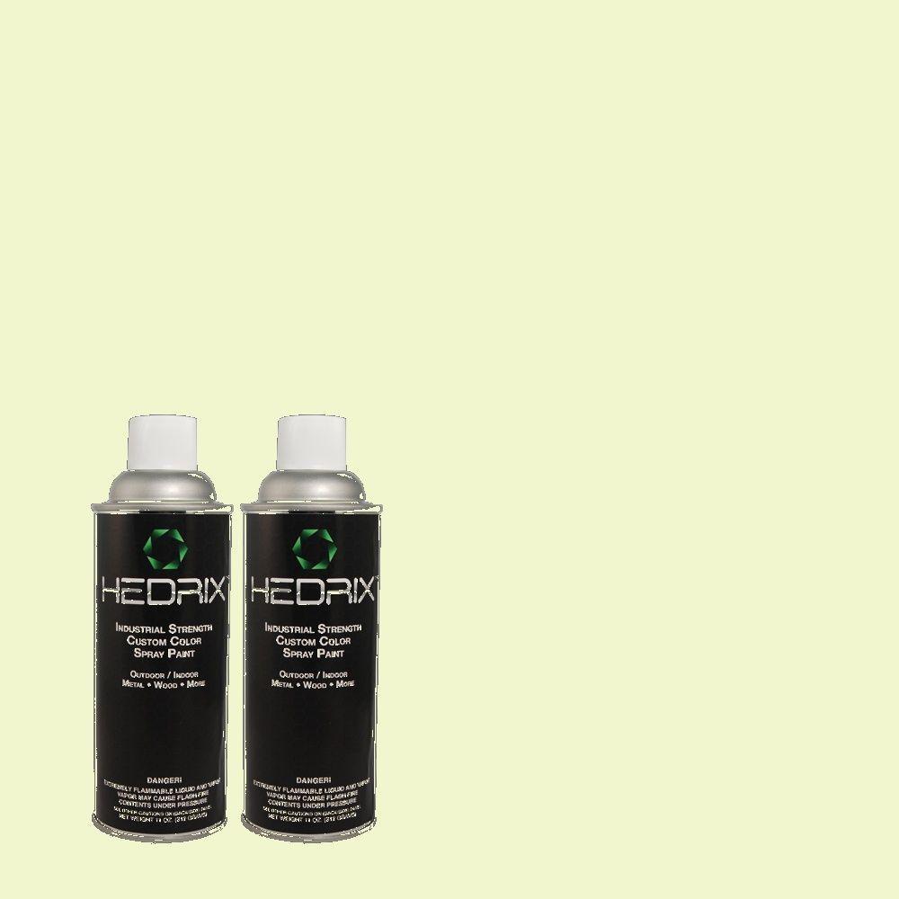 Hedrix 11 oz. Match of 420A-1 Green Shimmer Flat Custom Spray Paint (2-Pack)