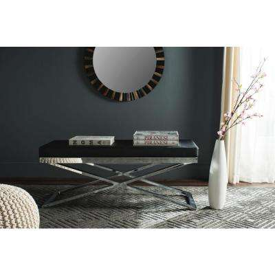 Acra Black and Silver Bench