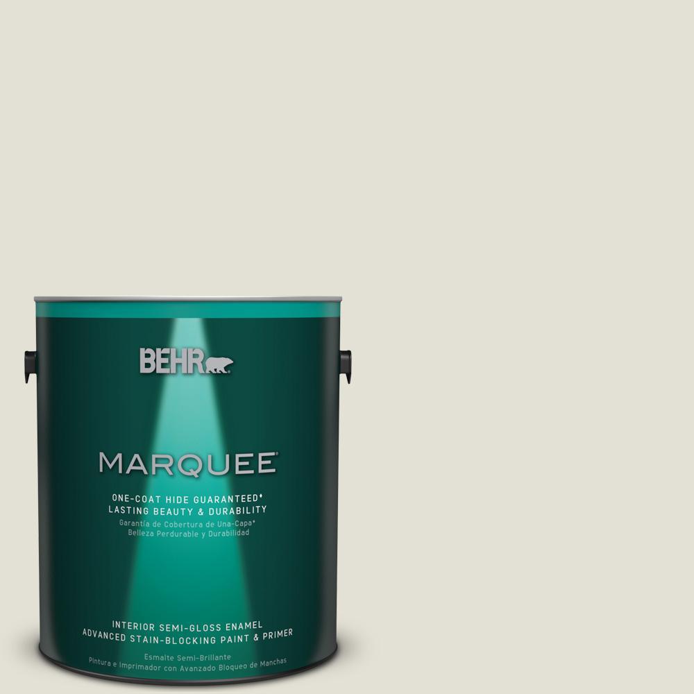 1 gal. #T18-09 Soft Focus Semi-Gloss Enamel Interior Paint