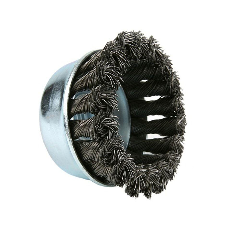 Lincoln Electric 3 in. Stainless-Steel Knotted Cup Brush-KH298 - The ...