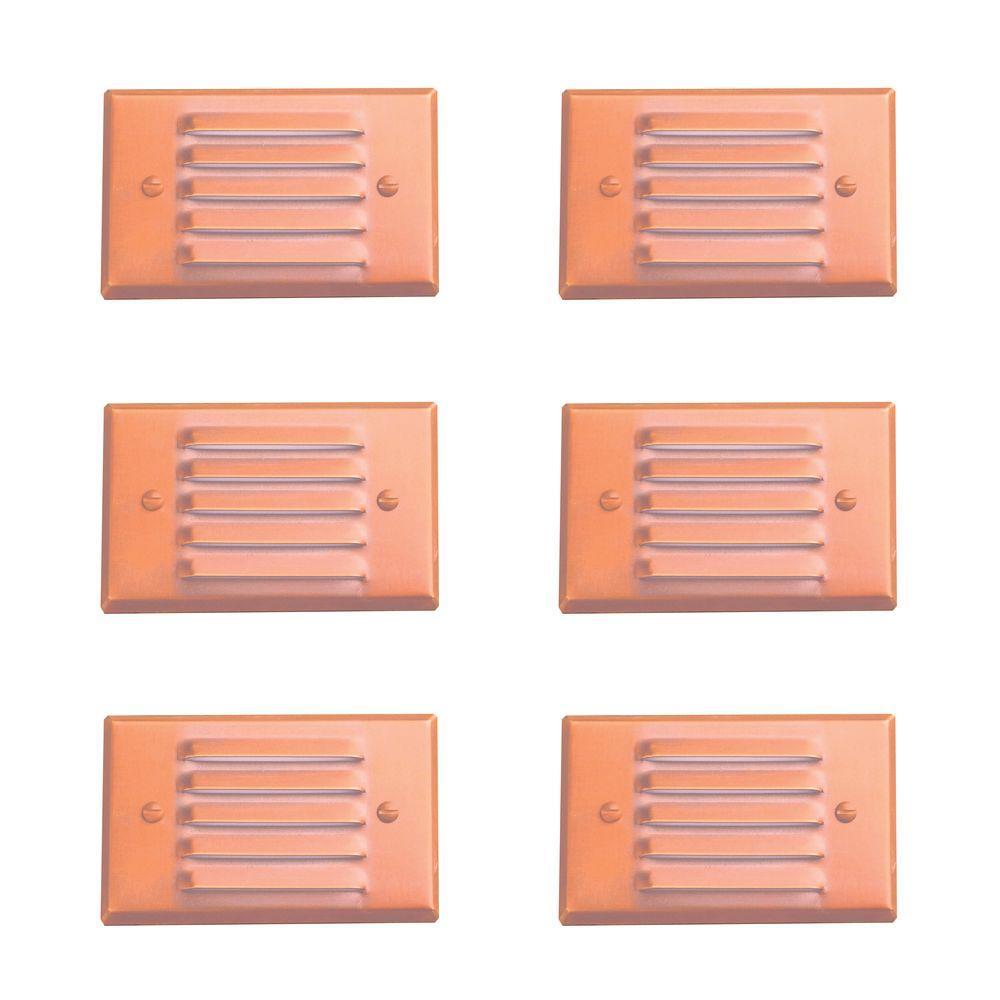 Illumine 1-Light Raw Copper Outdoor Step Light (6-Pack)