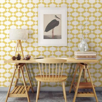 56.4 sq. ft. Emilio Yellow Retro Wallpaper