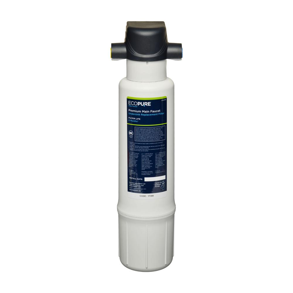 EcoPure Premium Main Faucet Drinking Water Filtration System ...