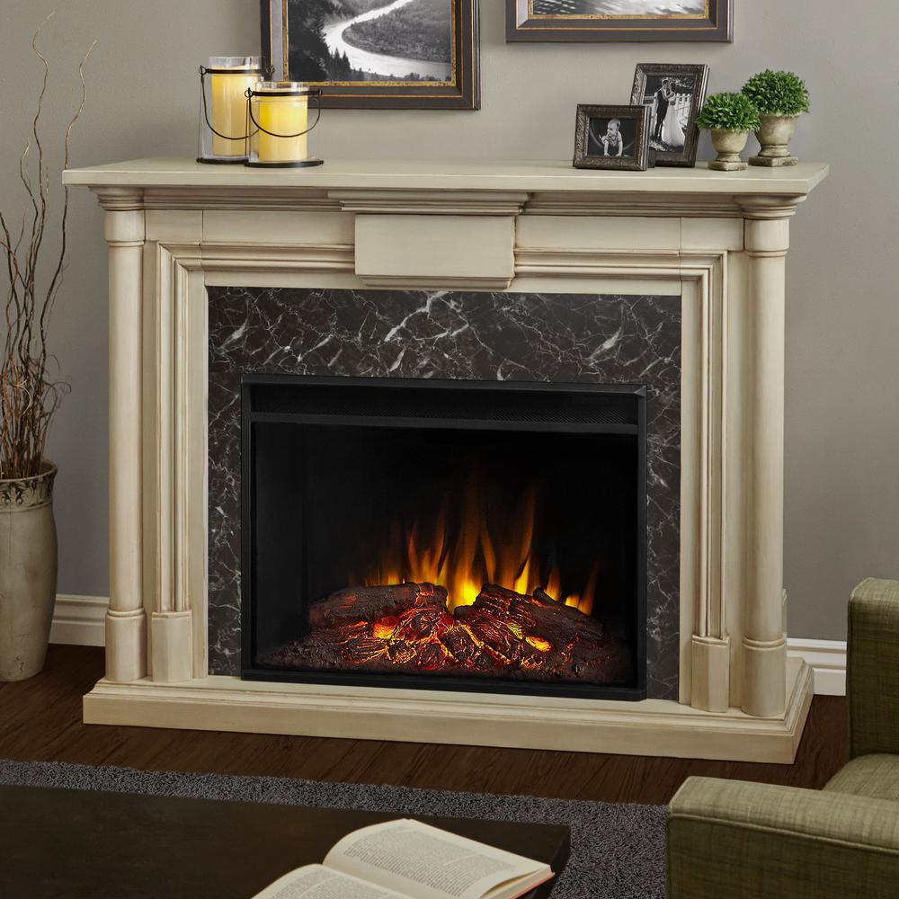 The Maxwell represents a new generation of Real Flame electric fireplaces. The 40 in. (diagonal) Grand Series firebox is 30% larger than our standard firebox