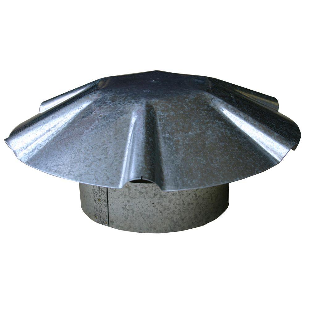 Speedi Products 4 In Galvanized Umbrella Roof Vent Cap Ex Rcgu 04 The Home Depot
