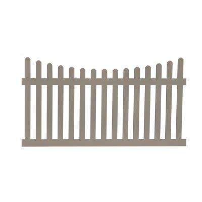 Ellington 3 ft. H x 6 ft. W Khaki Vinyl Picket Fence Panel