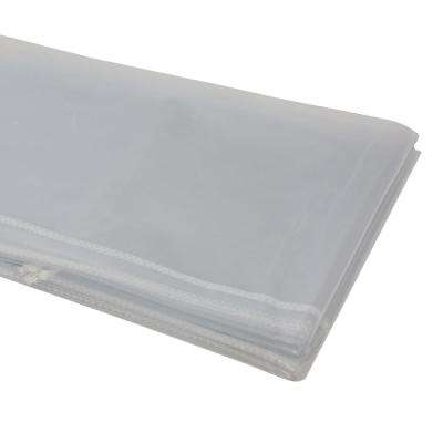 60 in. x 84 in. Heavy Duty Clear Plastic Tablecloth with White Sewn Edges