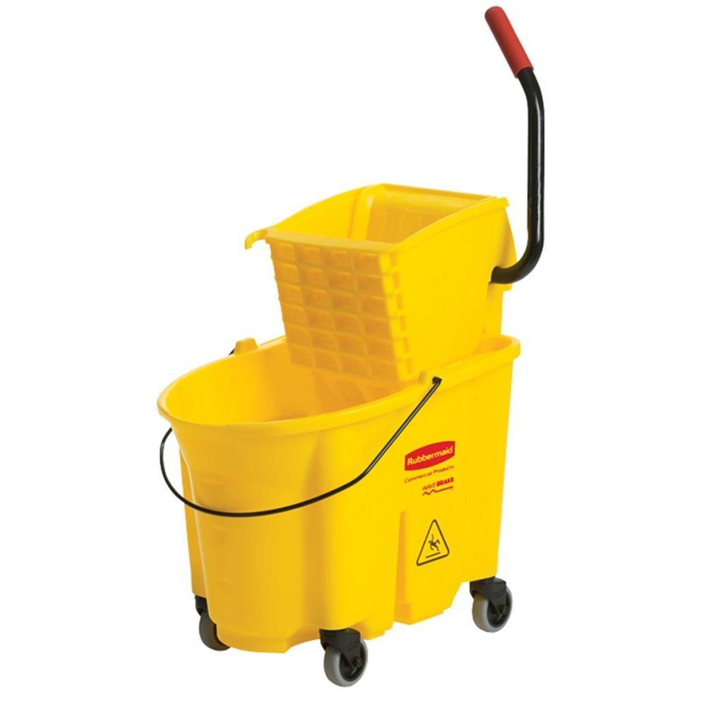 WaveBrake 8.75 Gal. Plastic Mop Bucket with Wringer