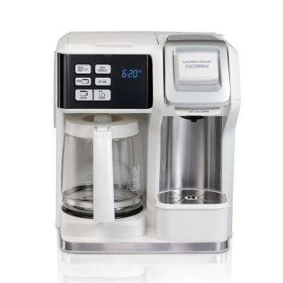 12-Cup White FlexBrew 2-Way Coffee Maker