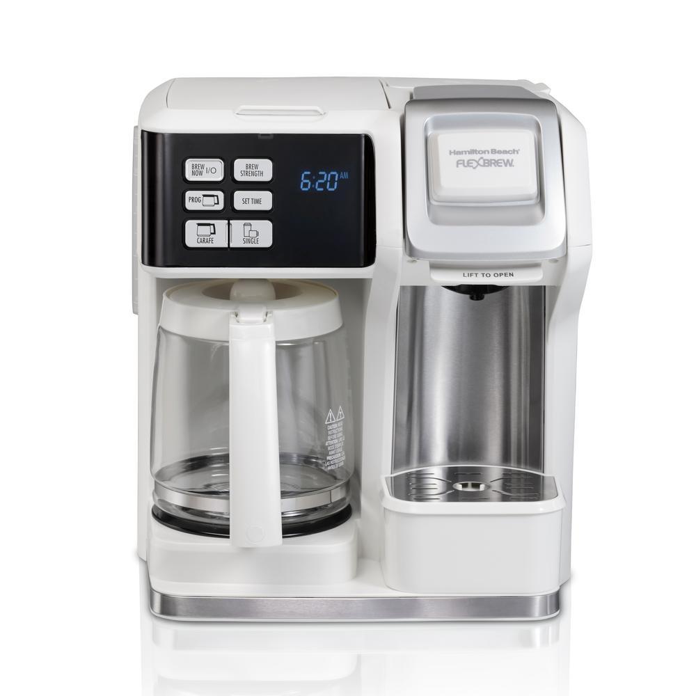 12-Cup White FlexBrew 2-Way Coffee Maker