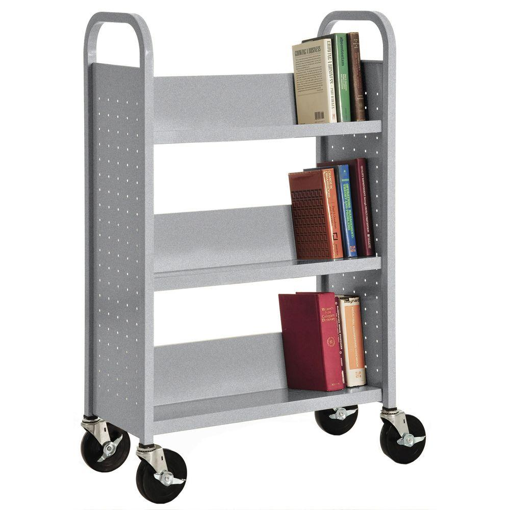 Sandusky Lee Multi-Granite Mobile Steel Bookcase