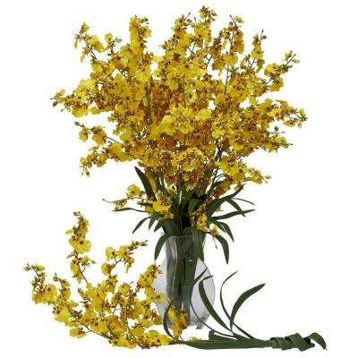 29 in. H Yellow Dancing Lady (Set of 12)