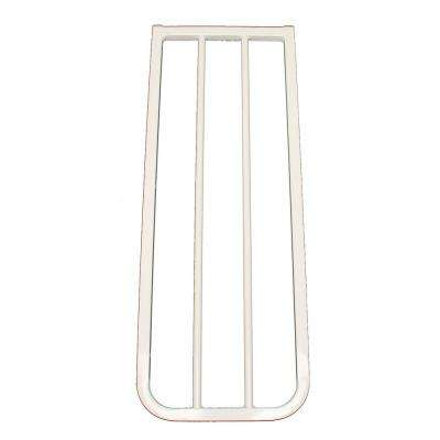 30 in. H x 10.5 in. W x 2 in. D Extension for Stairway Special or Auto Lock Gate White