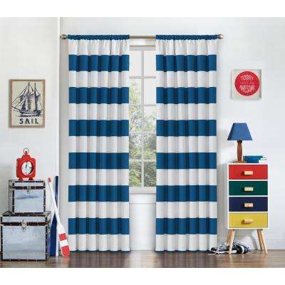 Peabody Blackout Window Curtain Panel in Blue - 42 in. W x 63 in. L