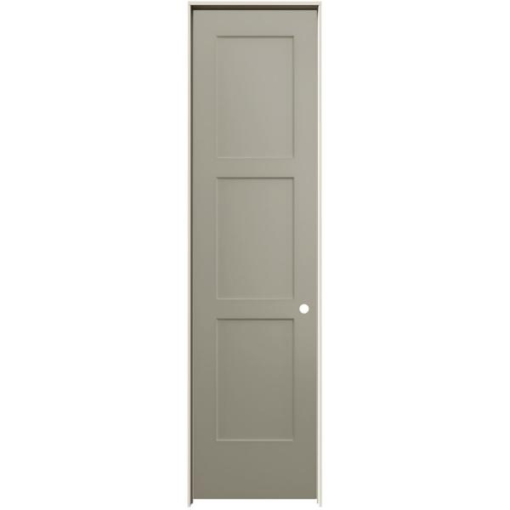 24 in. x 96 in. Birkdale Desert Sand Paint Left-Hand Smooth Solid Core Molded Composite Single Prehung Interior Door