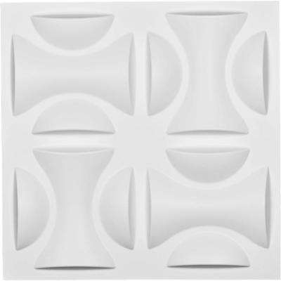 1 in. x 19-5/8 in. x 19-5/8 in. White PVC York EnduraWall Decorative 3D Wall Panel