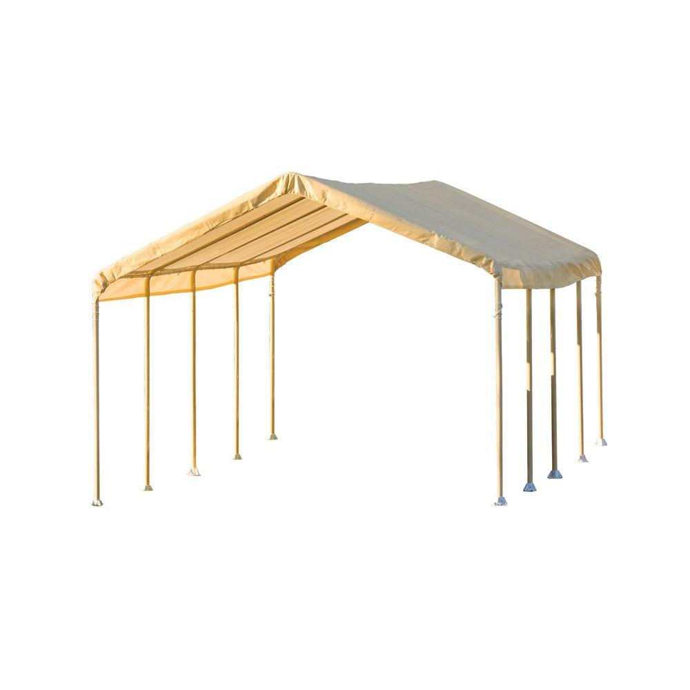 ShelterLogic Super Max 12 ft. x 26 ft. Tan Premium Canopy Set