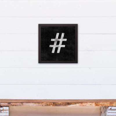 12 in. x 12 in. ''Vintage Hashtag'' Printed Framed Canvas Wall Art