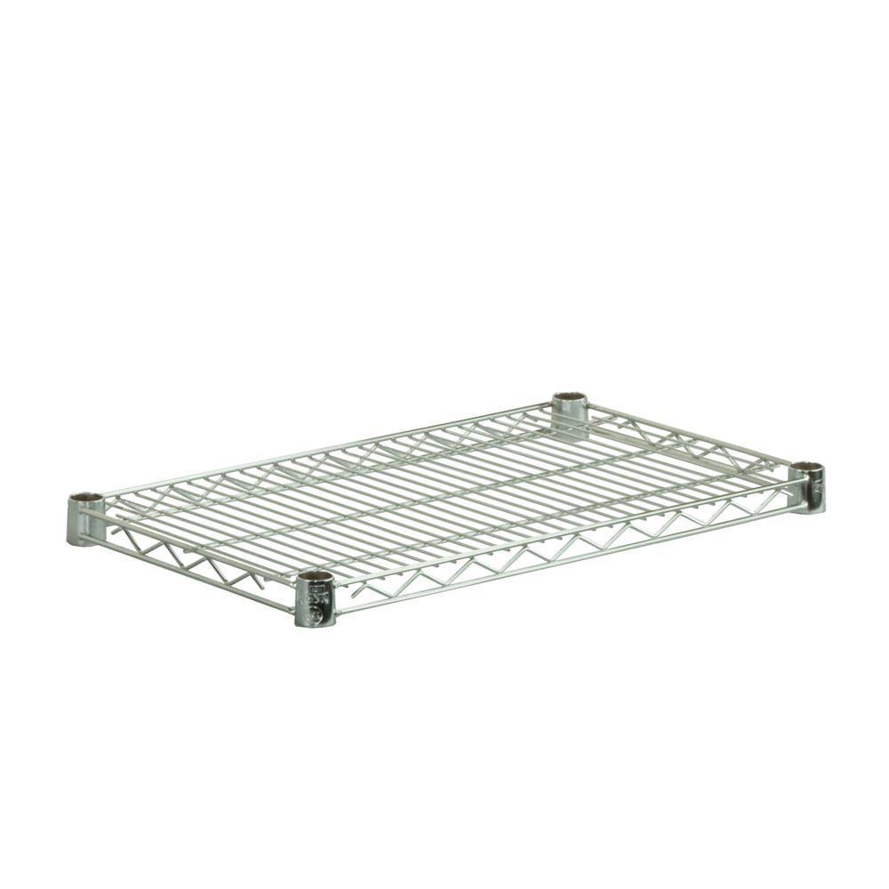 14 in. x 36 in. Steel Shelf in Chrome