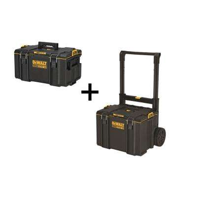TOUGHSYSTEM 2.0 Medium Toolbox with Bonus TOUGHSYSTEM 2.0 Mobile Toolbox