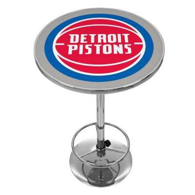 NBA Detroit Pistons Chrome Pub/Bar Table