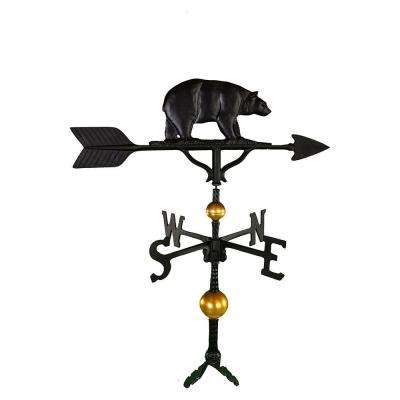 32 in. Deluxe Black Bear Weathervane