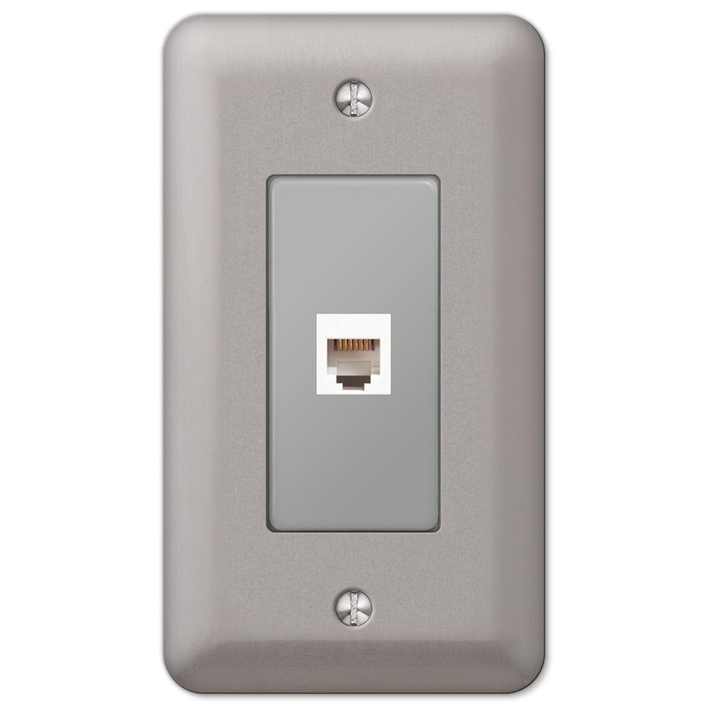 Devon 1 Phone Wall Plate - Brushed Nickel