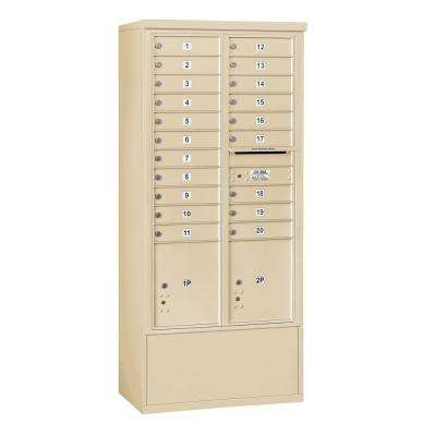 3900 Horizontal Series 20-Compartment 2-Parcel Locker Free Standing Mailbox
