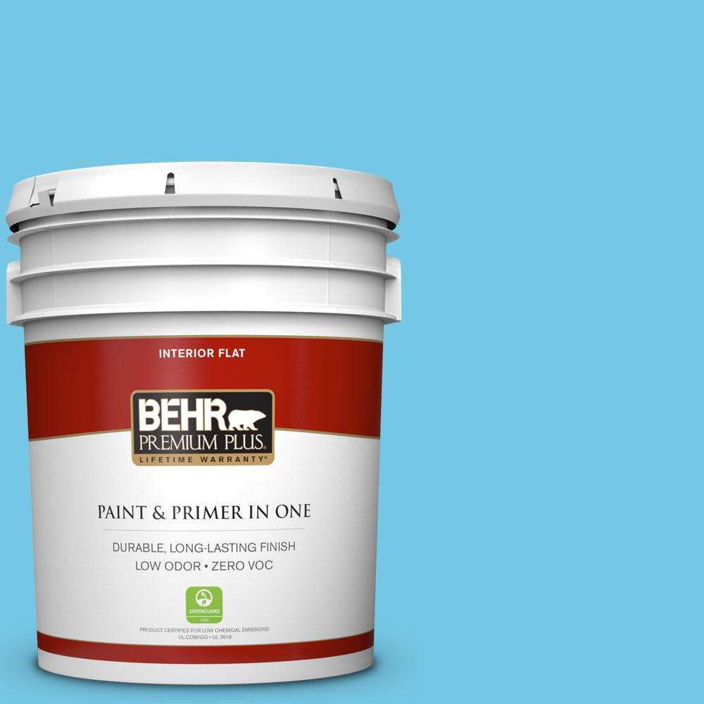 5-gal. #530B-4 Bliss Blue Zero VOC Flat Interior Paint