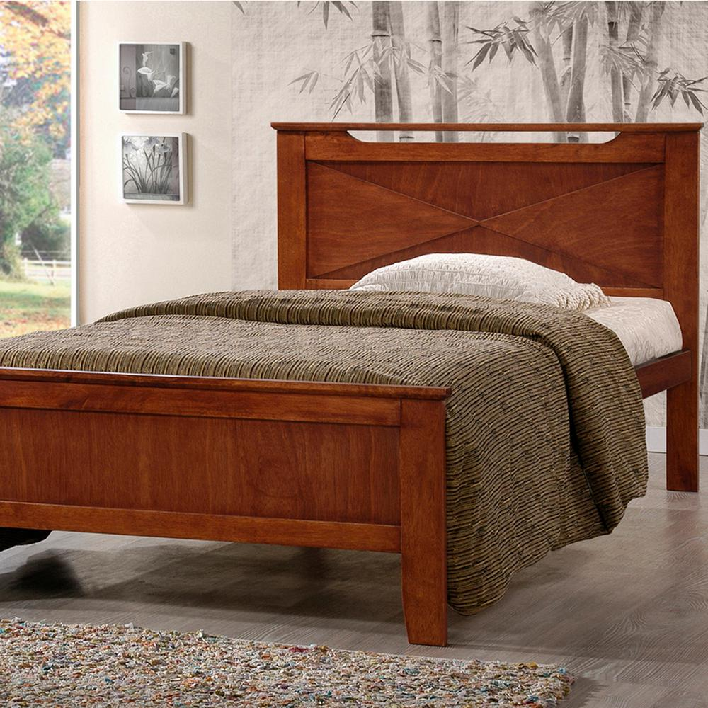 Demitasse Medium Brown Twin Platform Bed