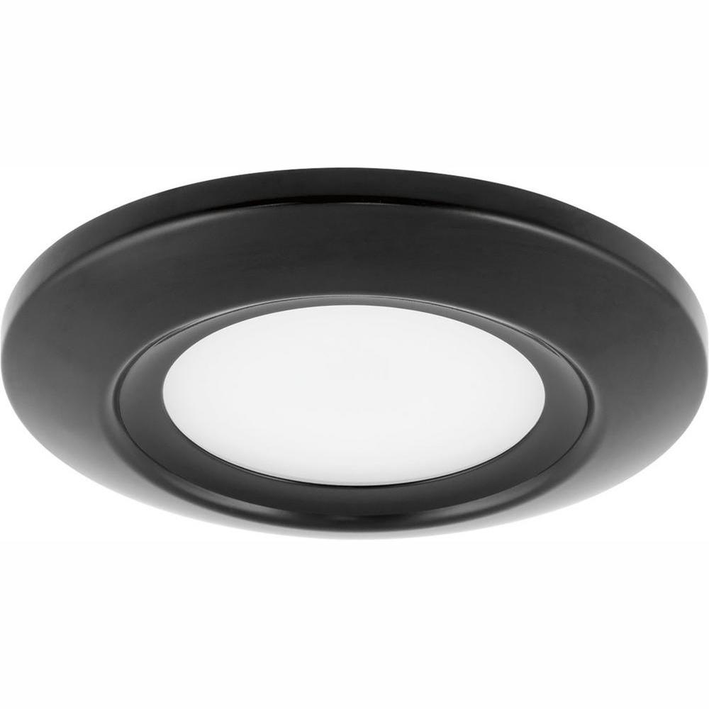 Progress Lighting 5 In Surface Mount Collection 11 Watt Black Integrated Led Flush