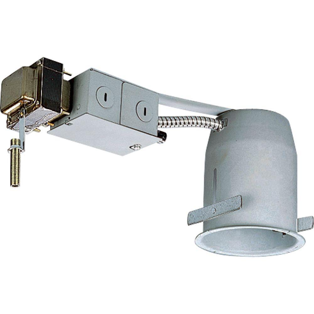 4 in. Metallic 12-Volt Remodel Recessed Housing, Non-IC