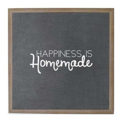 Chalk Happiness is Homemade Rustic Brown Frame Magnetic Memo Board