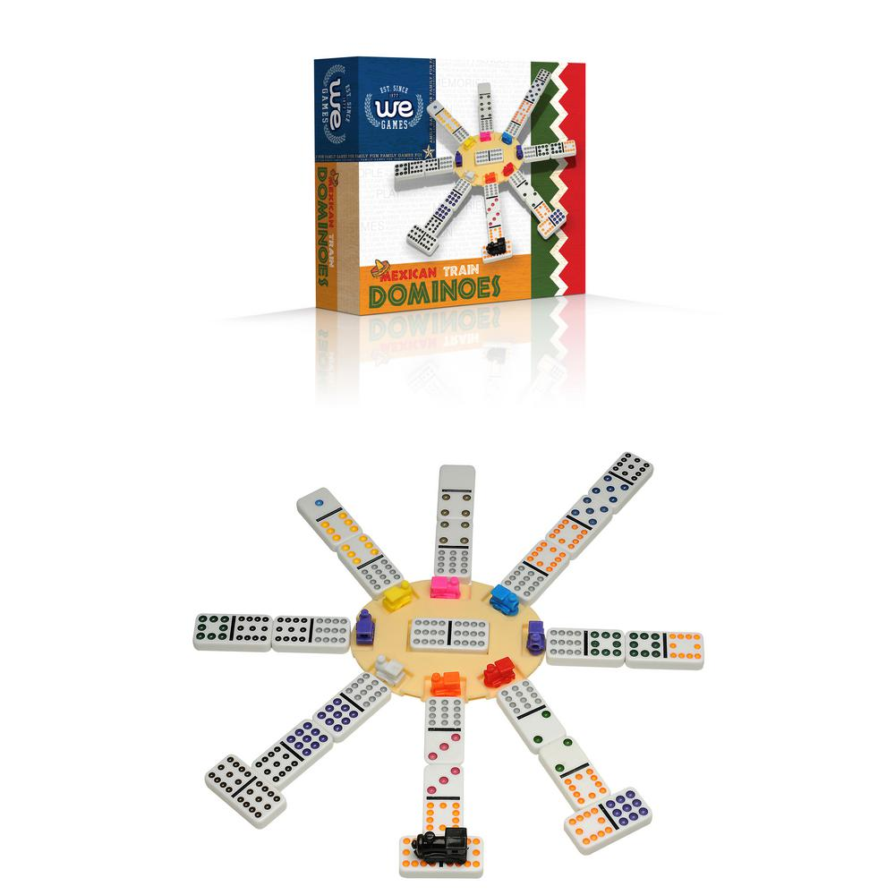 We Games Mexican Train Dominoes 34 5112 The Home Depot