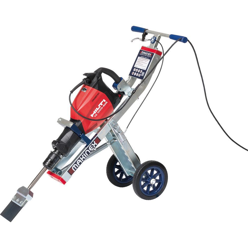TE 1000-AVR 120-Volt Demolition Hammer with Makinex Trolley, Tile Smasher, Cord and Side Handle