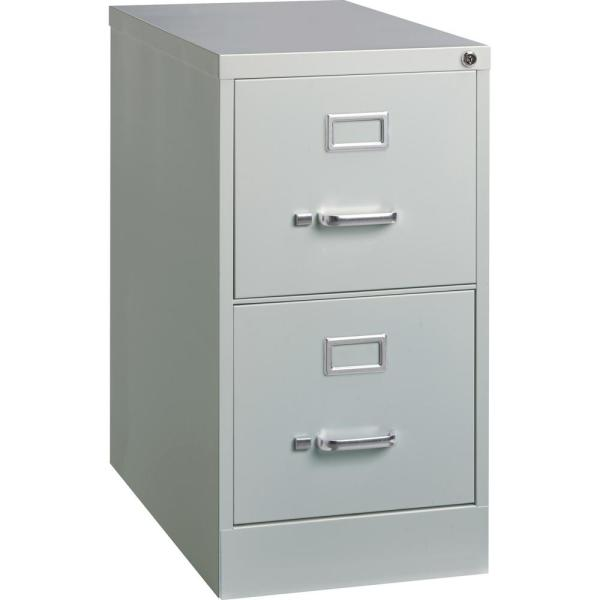 15 in. x 25 in. x 28.4 in. 2-Drawer Light Gray Vertical file