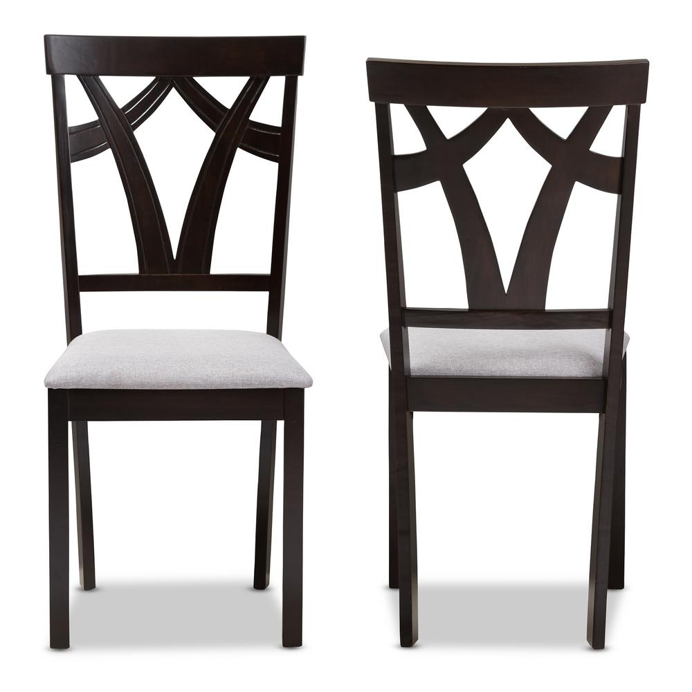 Remarkable Baxton Studio Sylvia Grey And Dark Brown Fabric Dining Chair Onthecornerstone Fun Painted Chair Ideas Images Onthecornerstoneorg