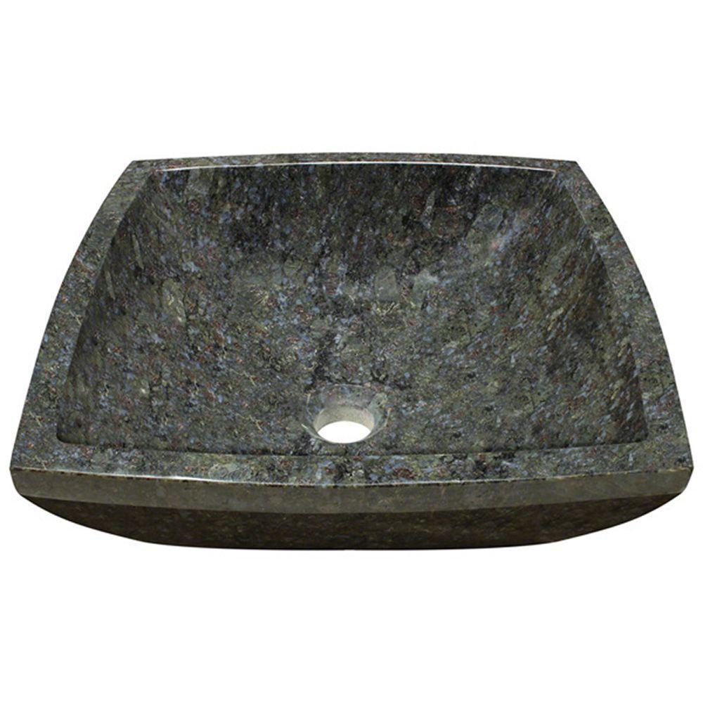 Stone Vessel Sink in Butterfly Blue Granite