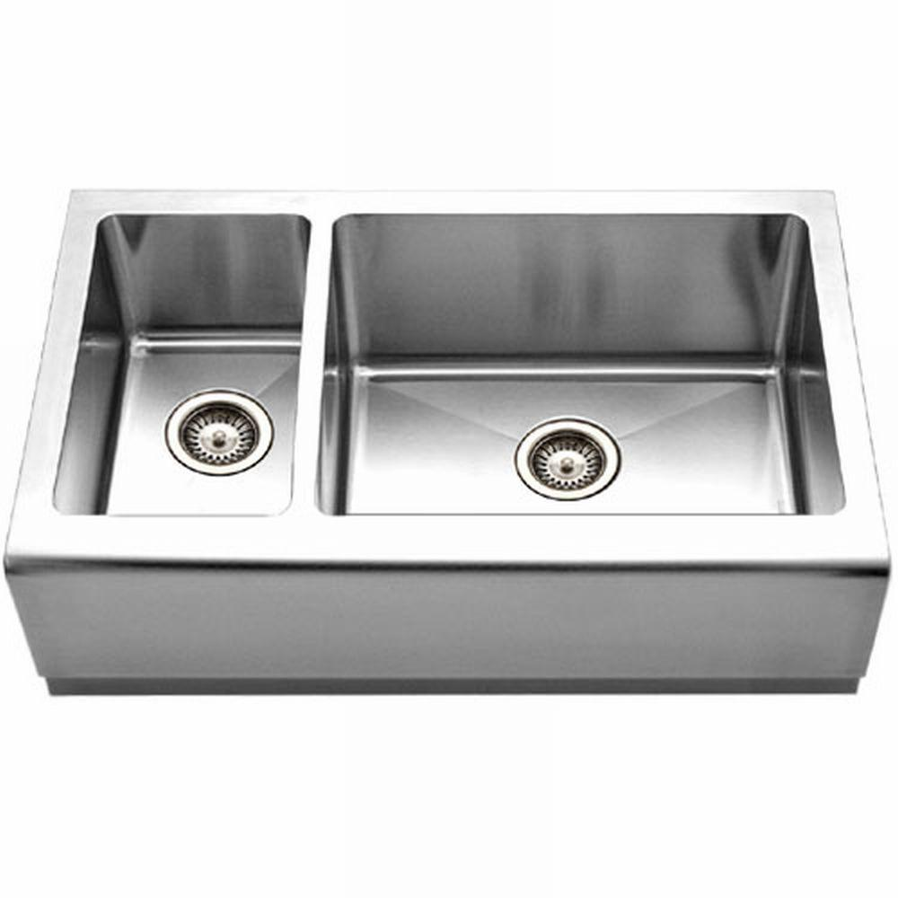 Houzer epicure series farmhouse apron front stainless