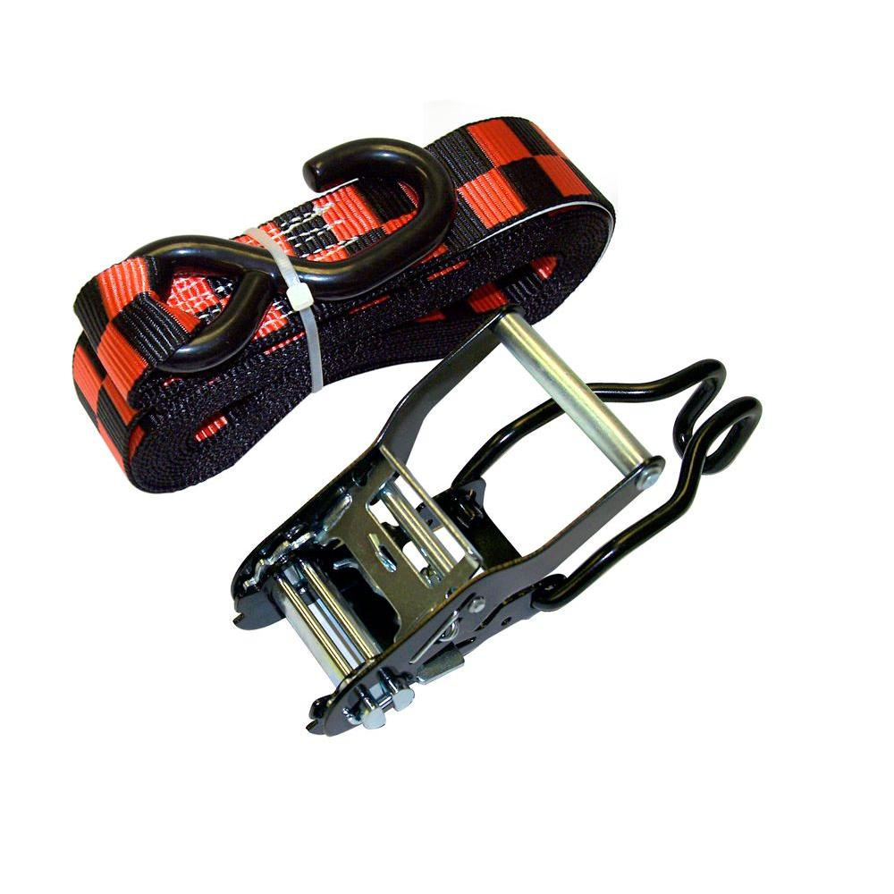 3,900 lbs. 1.5 in. x 15 ft. Ratchet Tie-Down Motorcycle Straps