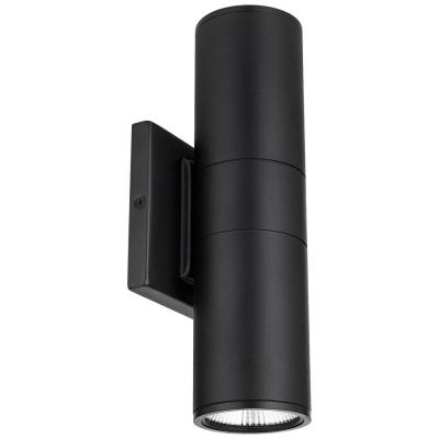 Black Aluminum LED Outdoor Wall Cylinder Light ETL Listed ENERGY STAR Certified Light Fixture Daylight (5000K)