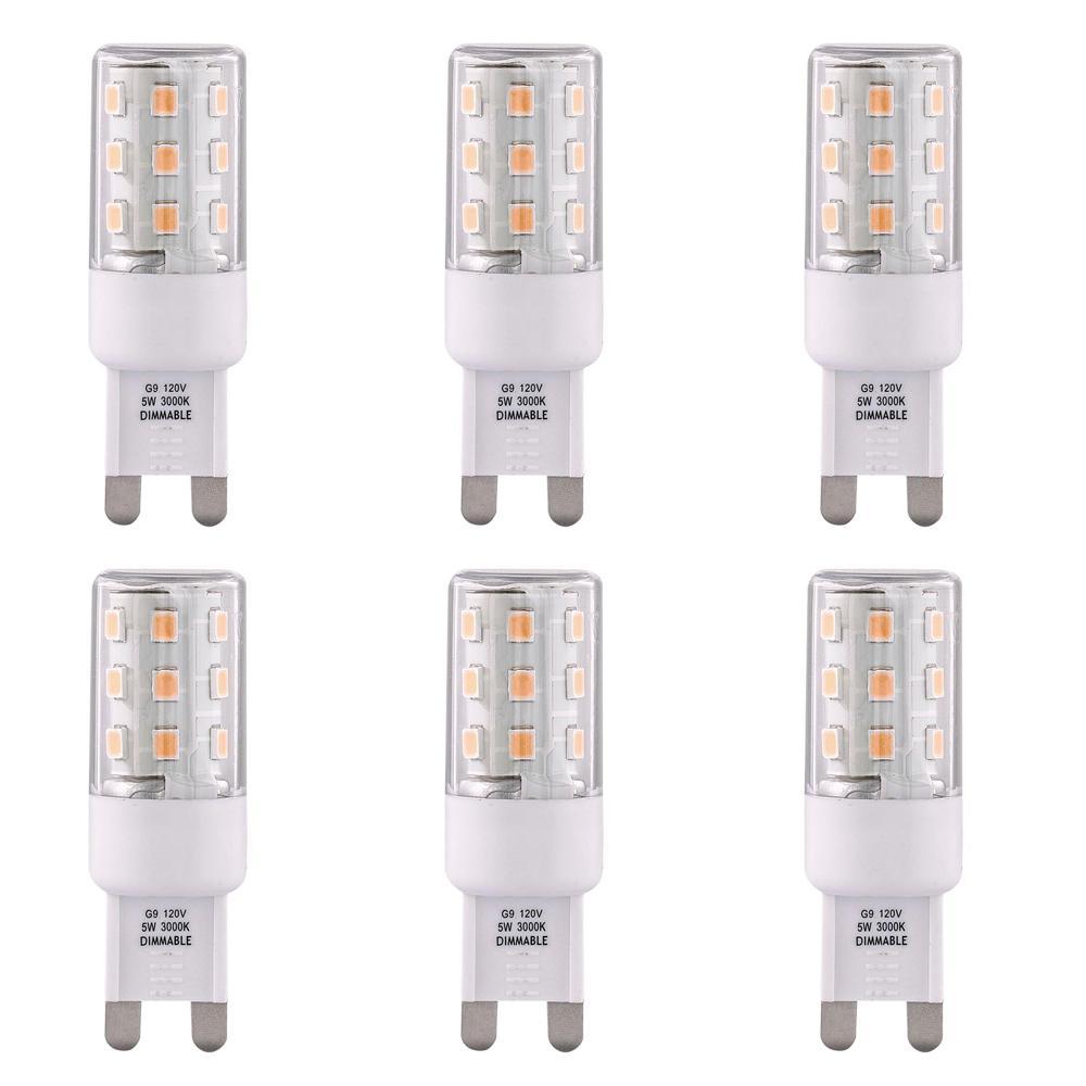 3000K 40-Watt Equivalent G9 Dimmable LED Light Bulb (Set of 6)