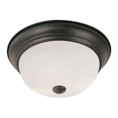 Bowers 22.5-Watt Rubbed Oil Bronze Integrated LED Flushmount